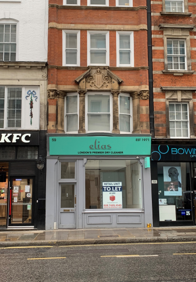 Prominent retail unit on South side of Fleet Street